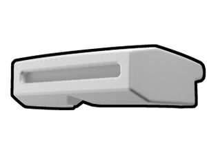 White Phase I Binocular Visor