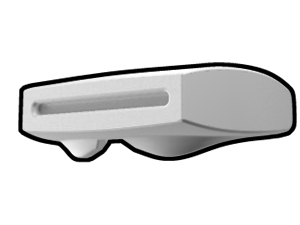 White Phase II Binocular Visor