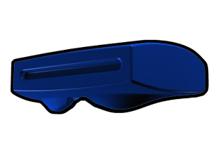 Blue Phase II Binocular Visor