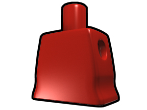 Red Curved Torso