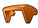 Orange Phase II Sun Visor