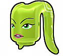 Lime Tentacle Head with Hera Face