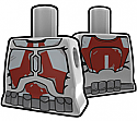 Gray Torso with Dark Red STK Suit