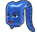 Blue Tentacle Head with Ayl Face