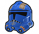 Blue CDY Trooper Helmet