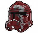 Dark Red Camo Trooper Helmet