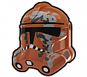 Dark Orange Camo Trooper Helmet