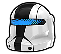 White SKRT Commando Helmet