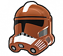 Dark Orange FX Trooper Helmet