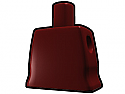 Dark Red Curved Torso