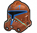 Dark Orange RX Trooper Helmet