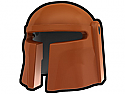 Dark Orange Mando Helmet