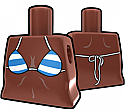 Brown Torso with Blue Stripe Bikini
