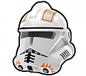 White Commander CDY Helmet