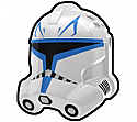 White RX without Weld Lines Trooper Helmet