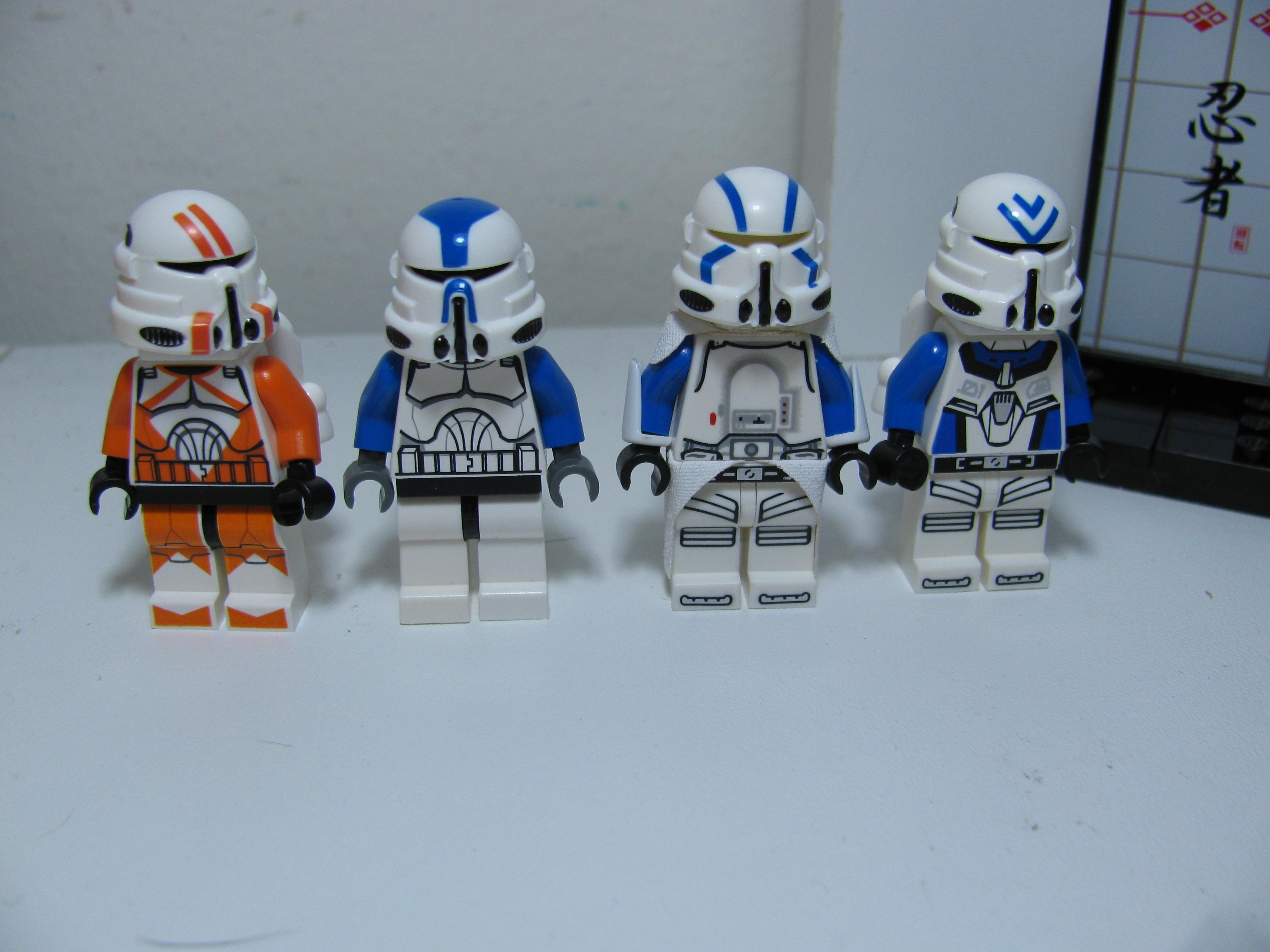 Lego Custom clone trooper blue Gatling gun