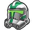 Metallic Silver Gree Trooper Helmet