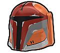 Dark Orange Stalker Hunter Helmet